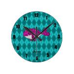 Argyle rosado conocido personalizado de la ballena relojes
