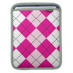 Argyle rosado funda para iPads
