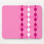 Argyle rosado tapetes de raton