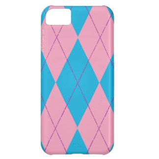 Argyle rosado y azul