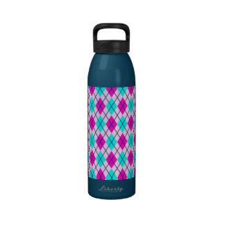 Argyle rosado y azul botella de agua