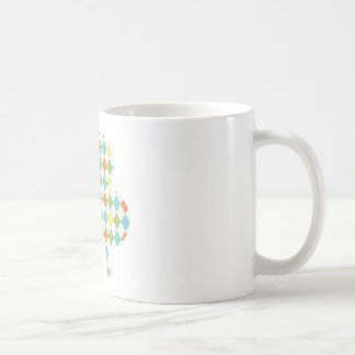 Argyle Shamrock Classic White Coffee Mug