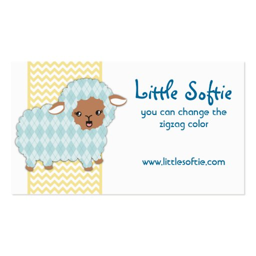 Argyle sheep lamb knitting crochet business card