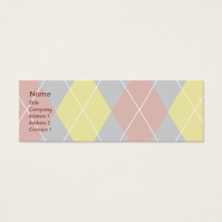 Argyle - Skinny Mini Business Card