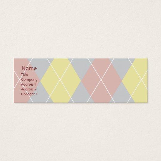 Argyle - Skinny Mini Business Card
