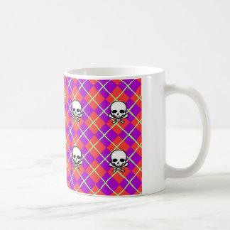 Argyle Skull Coffee Mug