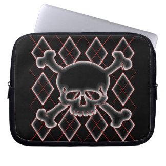 Argyle Skull Laptop Sleeves