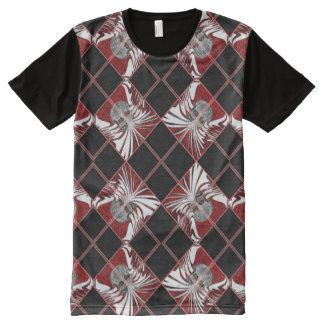 Argyle skull pattern All-Over print t-shirt