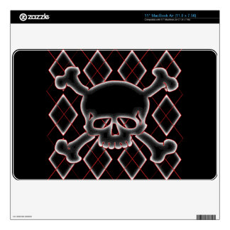 Argyle Skull Skins Decal For The MacBook Air