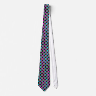 Argyle Skulls Blue Pink Vert. Stripes Tie