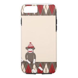 Argyle Sock Monkey iPhone 7 case