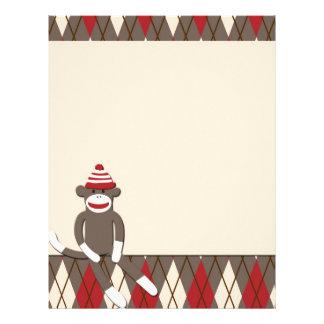 Argyle Sock Monkey Letterhead