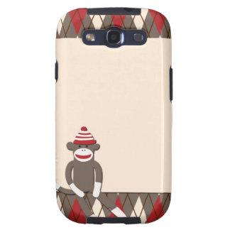 Argyle Sock Monkey Samsung Galaxy S3 Case