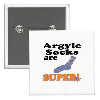 argyle socks are super 2 inch square button