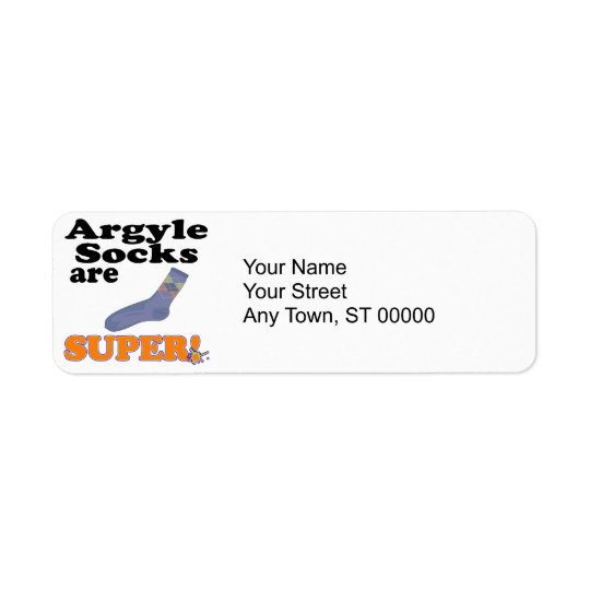 argyle socks are super label
