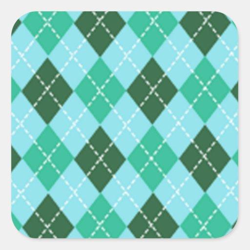 Argyle Square Sticker