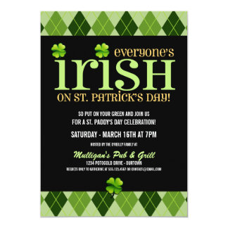 Argyle St. Patricks Day Party Invitations