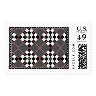 Argyle stamp pattern gray