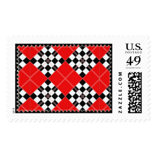 Argyle stamp pattern red
