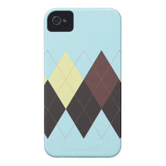 Argyle Stripe, Blue & Browns, iPhone 4/4s iPhone 4 Cover