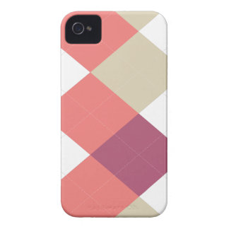 Argyle Stripe, Pink & Coral, iPhone 4/4s iPhone 4 Case