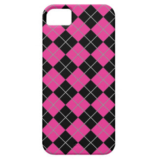 Argyle Style Pink & Black iPhone 5 Cases