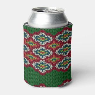Argyle Sweater Texture Can Cooler
