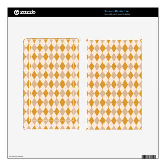 Argyle Tan, Burnt Gold, Cream Decals For Kindle Fire
