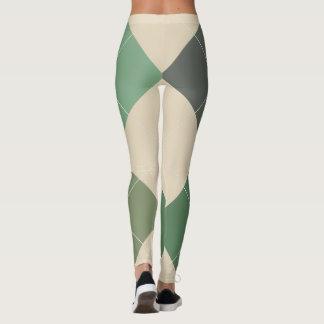 Argyle Textile Pattern Leggings 03 Big