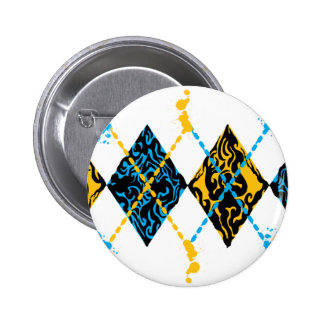 Argyle Tribal Pinback Buttons