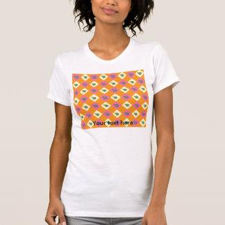 Argyle turtle pattern on orange tee shirts