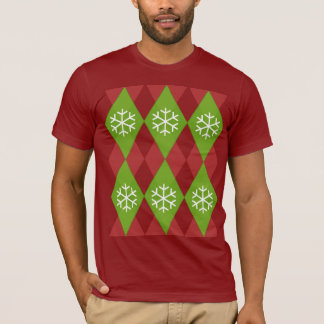 Argyle Ugly Christmas Sweater Pattern T-Shirt