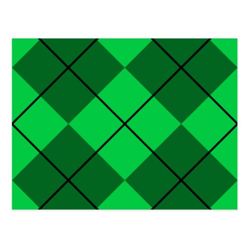 Argyle verde irlandés tarjeta postal