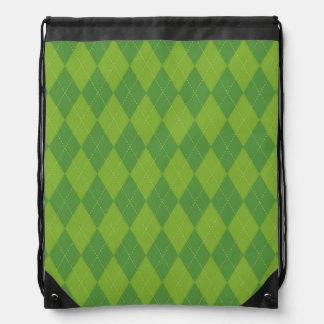 Argyle verde mochila