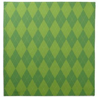 Argyle verde servilletas de papel