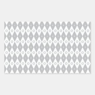 Argyle White Dove Rectangular Sticker