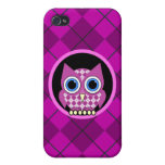 argyle with owl iPhone 4 cases