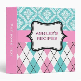 Argyle y el damasco modelan el rosa, receta de la