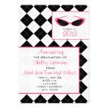 Argyle y invitación 2012 de la graduación de las g
