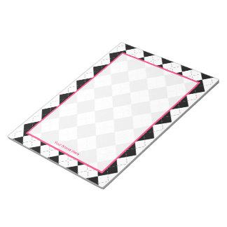 Argyle y libreta personalizada rosa libreta para notas