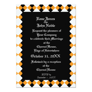 Argyll Ebony XI (Orange) Wedding Invitation
