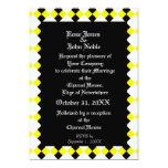 Argyll Ebony XI (Yellow) Wedding Invitation