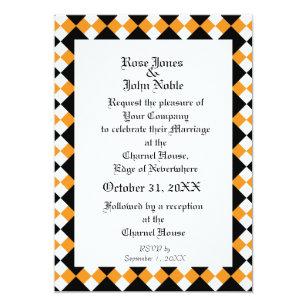 Orange checkerboard invitations announcements zazzle argyll ivory xi orange wedding invitation stopboris Choice Image