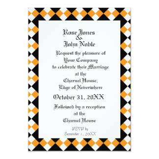 Argyll Ivory XI (Orange) Wedding Invitation