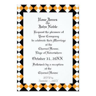 Argyll Ivory XI (Orange) Wedding Invitation