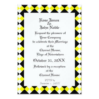 Argyll Ivory XI (Yellow) Wedding Invitation