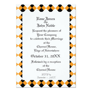Argyll Ivory XVI (Orange) Wedding Invitation