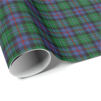 Argyll Scotland Tartan Blue and Green Plaid Wrapping Paper