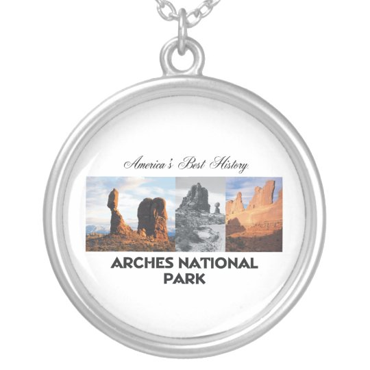 ARH Arches National Park Silver Plated Necklace