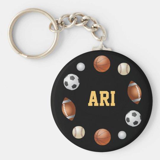 Ari World of Sports Keychain - Black